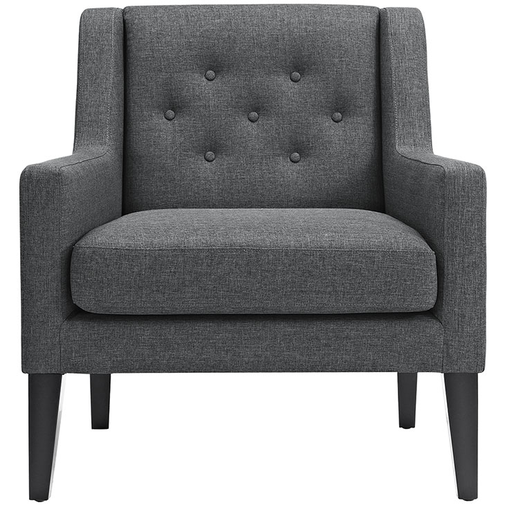 Den upholstered accent chair gray 4