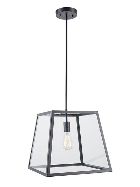 Glass box large pendant light