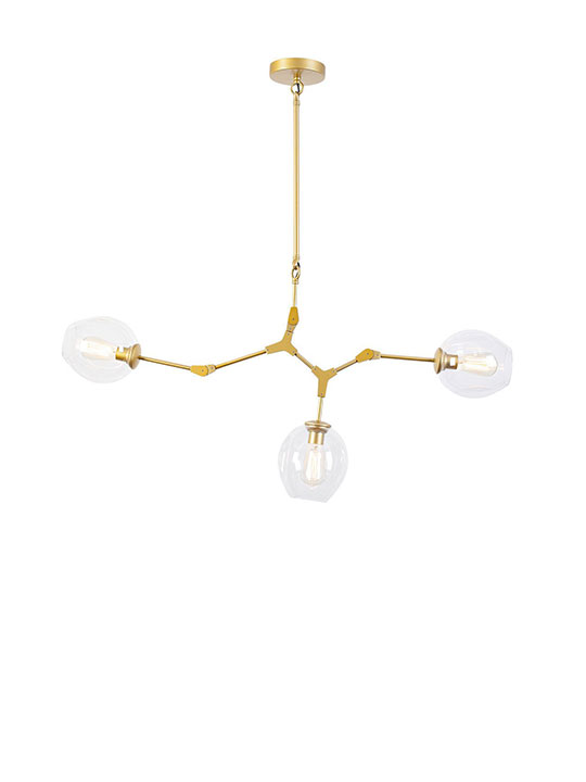 Gold space 3 tier pendant light