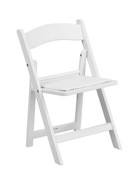 kids white folding chair