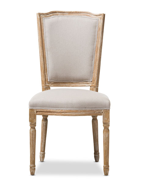 beige oak wood chair