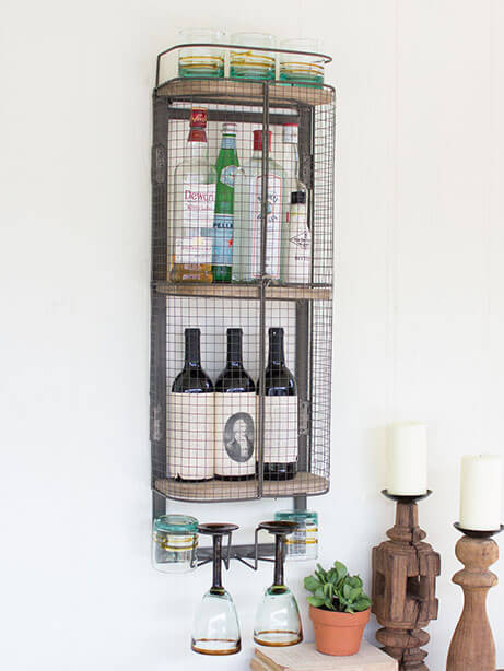 Wire bar wall cabinet