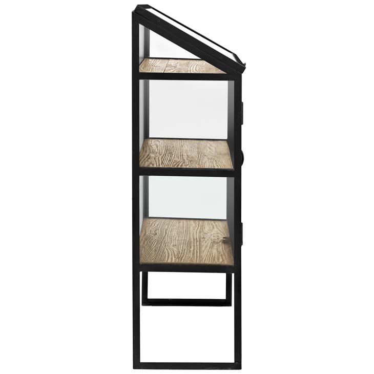 black metal glass display cabinet 1
