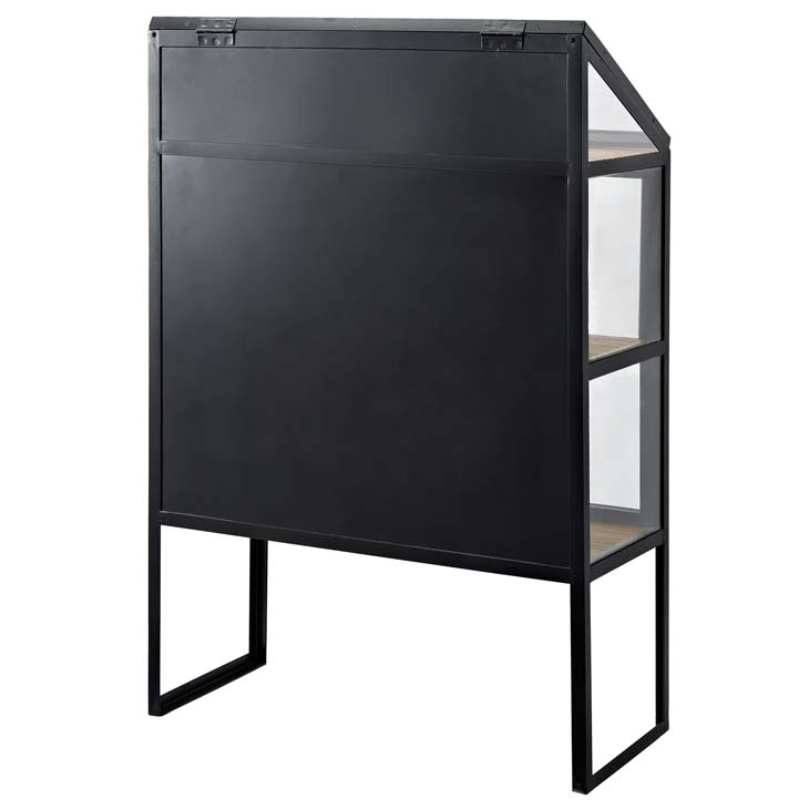 black metal glass display cabinet 2