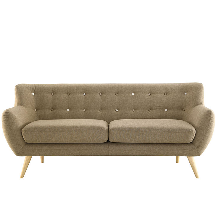 decade upholestered sofa beige 1