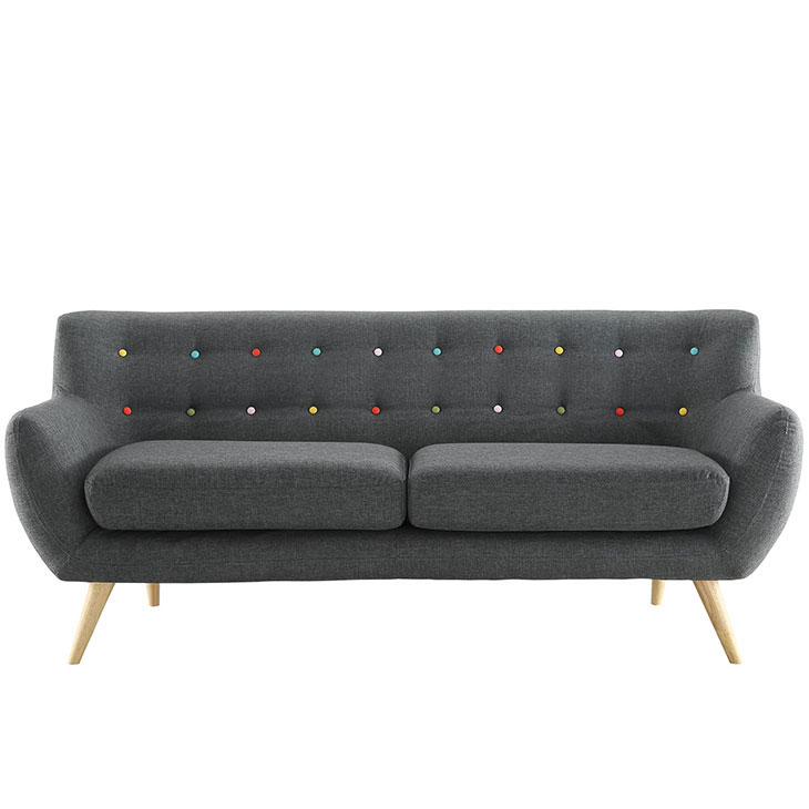 decade upholestered sofa dark gray 1