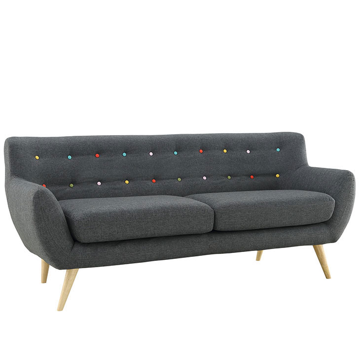 decade upholestered sofa dark gray 2