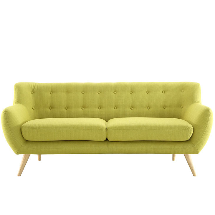 decade upholestered sofa lime green 1