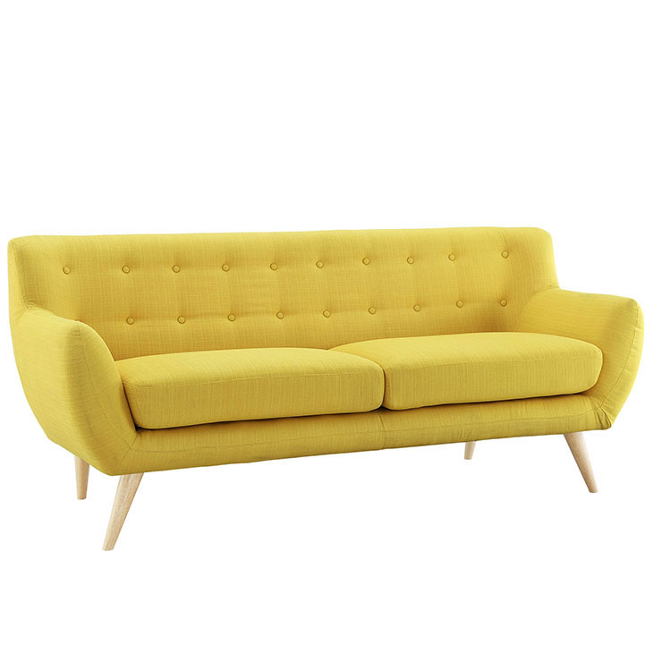 decade upholestered sofa yellow 1