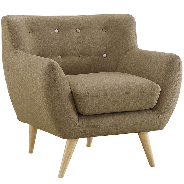 decade upholstered armchair beige 2