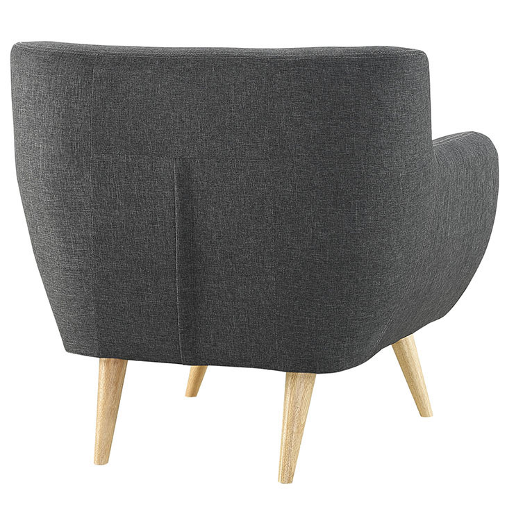 decade upholstered armchair dark gray 4