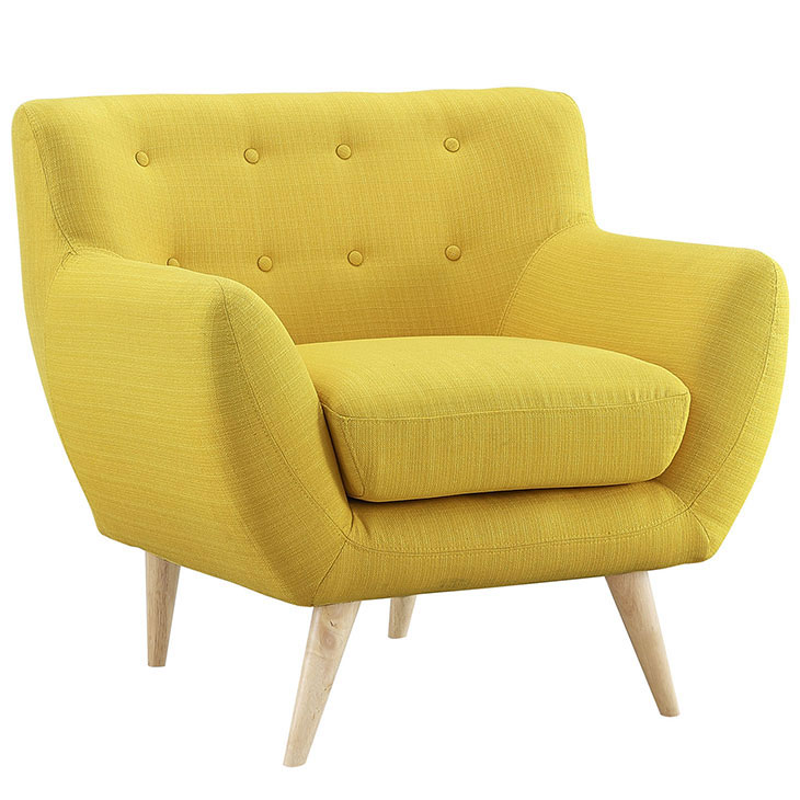 decade upholstered armchair dark yellow 2