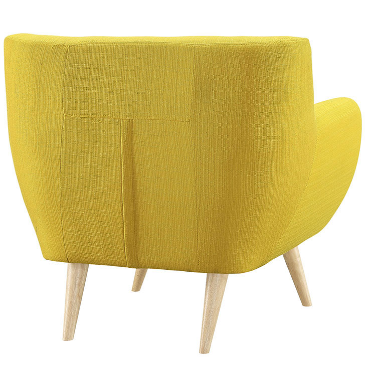 decade upholstered armchair dark yellow 4