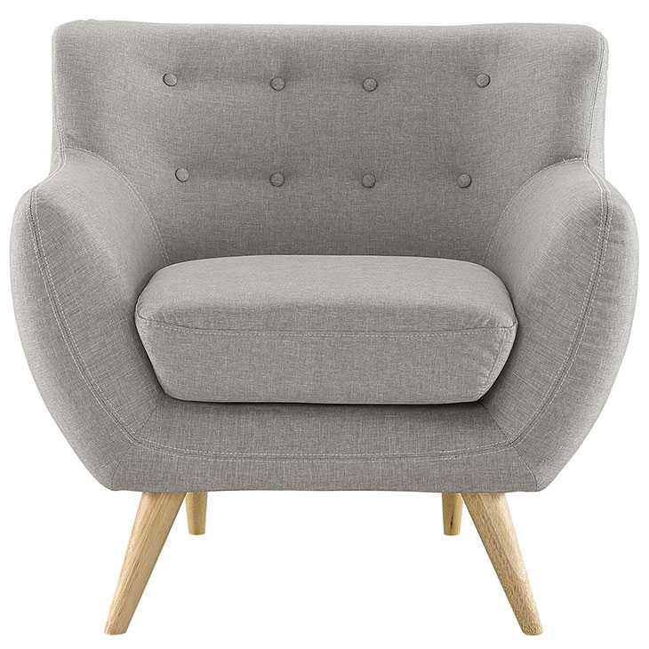 decade upholstered armchair light gray 2