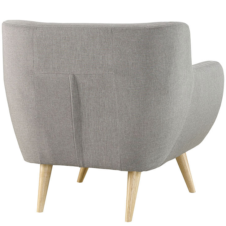 decade upholstered armchair light gray 4