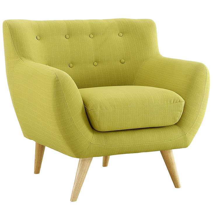 decade upholstered armchair lime green 2