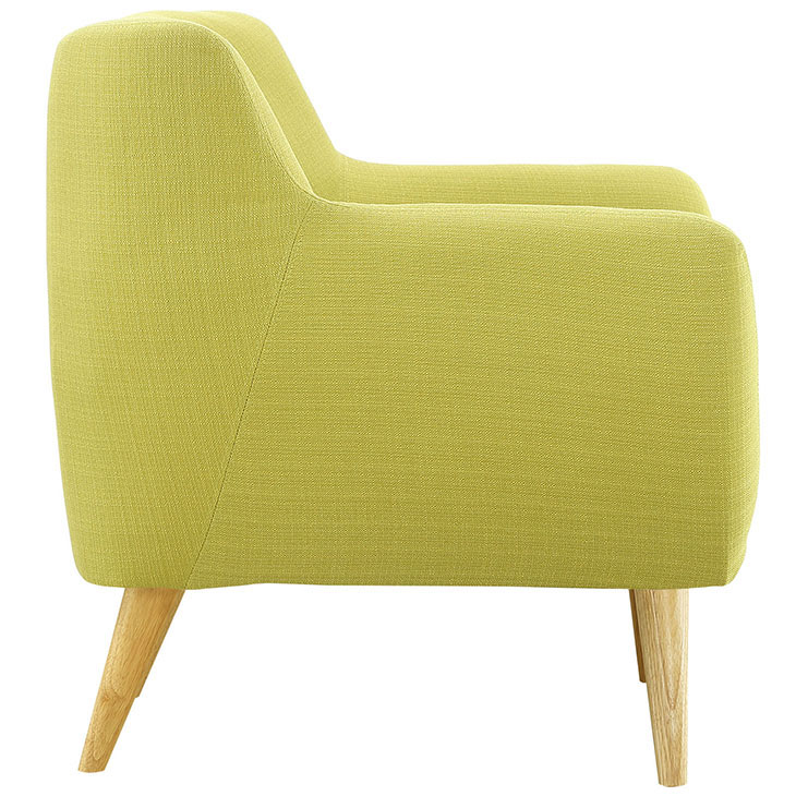 decade upholstered armchair lime green 3