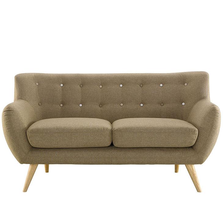 decade upholstered loveseat beige 1