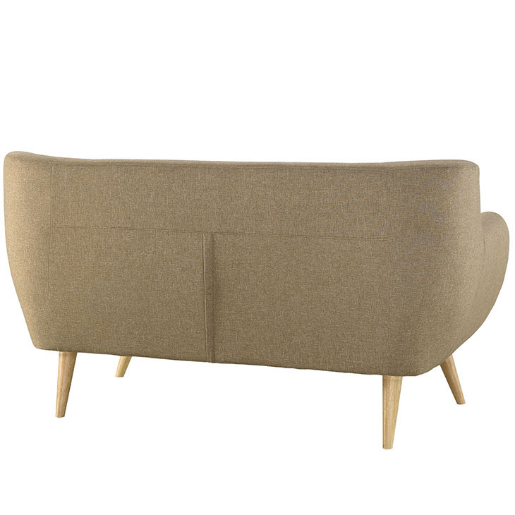decade upholstered loveseat beige 3