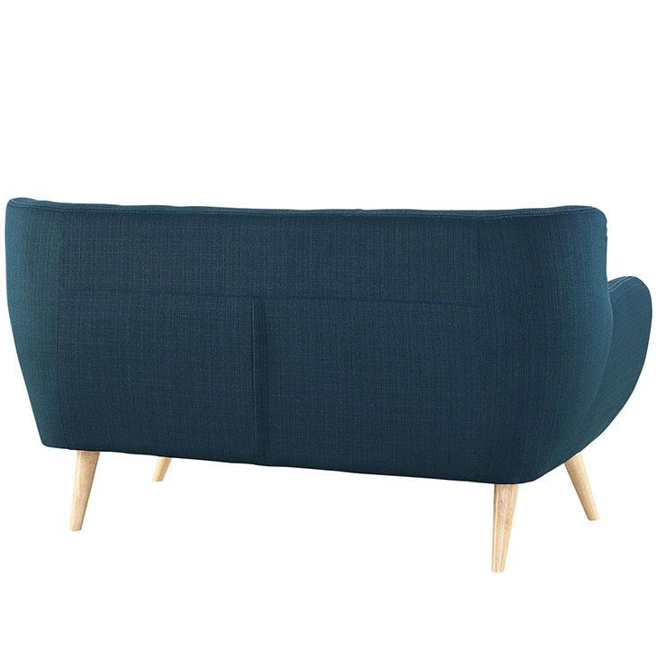 decade upholstered loveseat dark blue 3