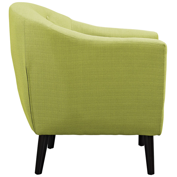 ept upholstered armchair lime green 2