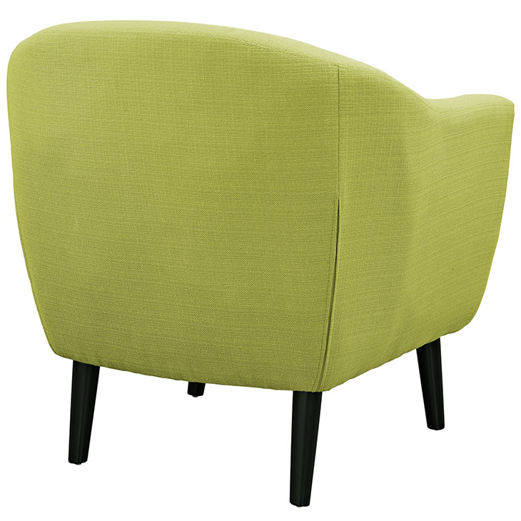ept upholstered armchair lime green 3
