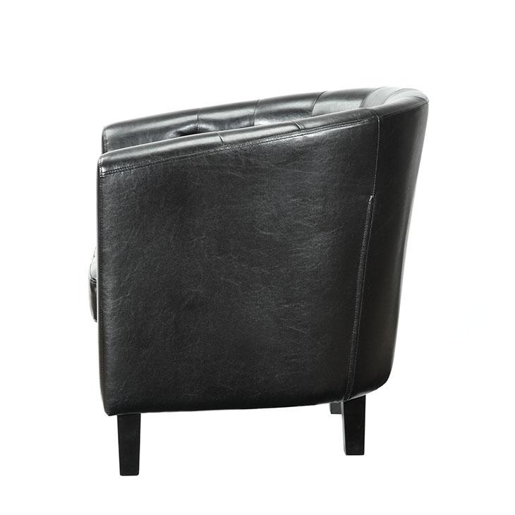 exclusive vegan leather sofa armchair black 2
