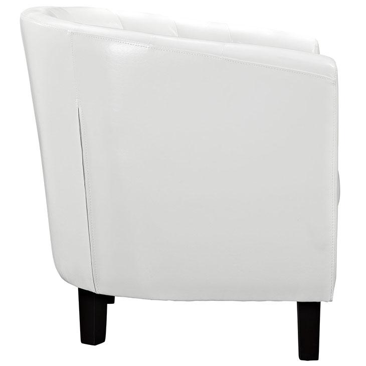 exclusive vegan leather sofa armchair white 1