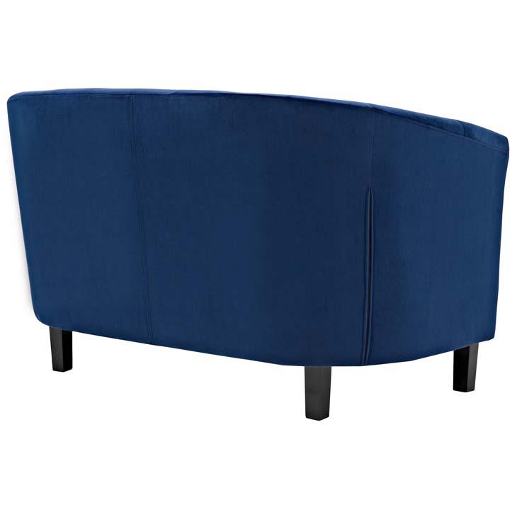 exclusive velvet loveseat blue 2
