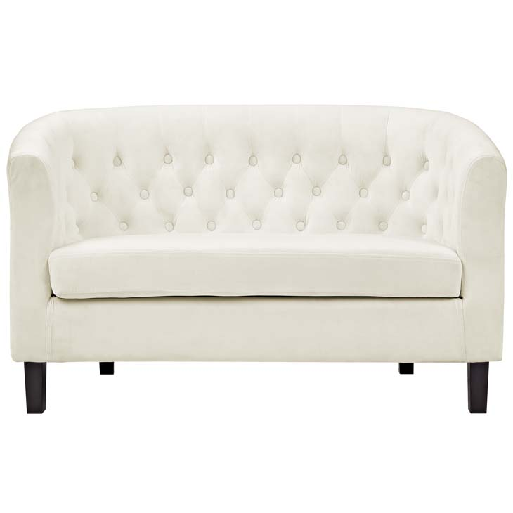exclusive velvet loveseat cream 1