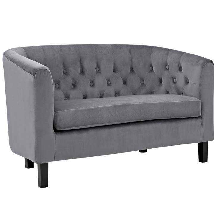 exclusive velvet loveseat gray 2