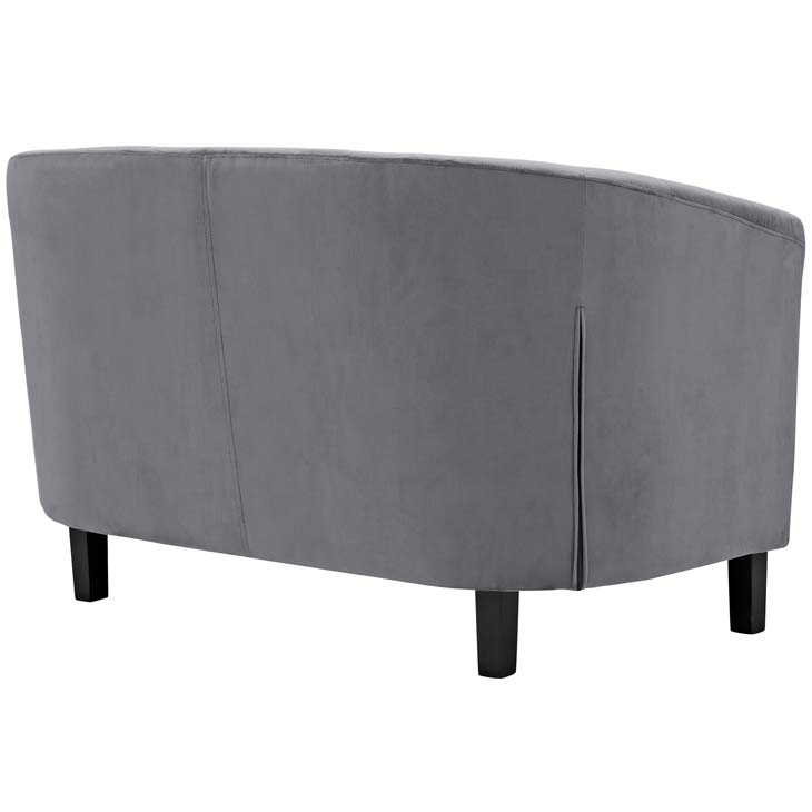exclusive velvet loveseat gray 3