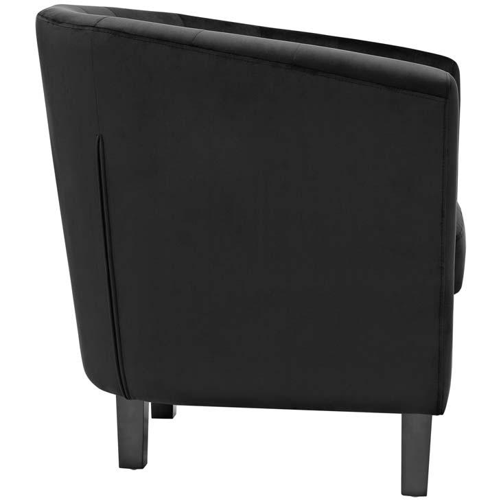exclusive velvet sofa armchair black 1