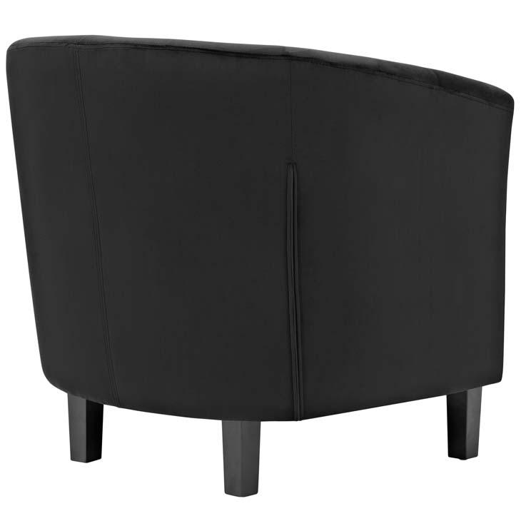 exclusive velvet sofa armchair black 2