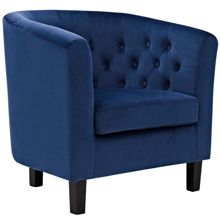 exclusive velvet sofa armchair blue 1