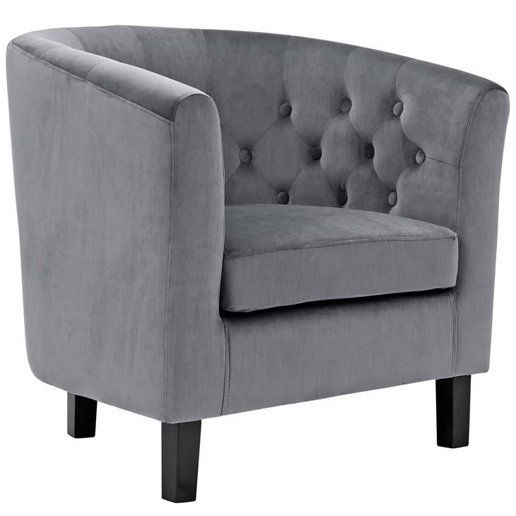 exclusive velvet sofa armchair grey 1