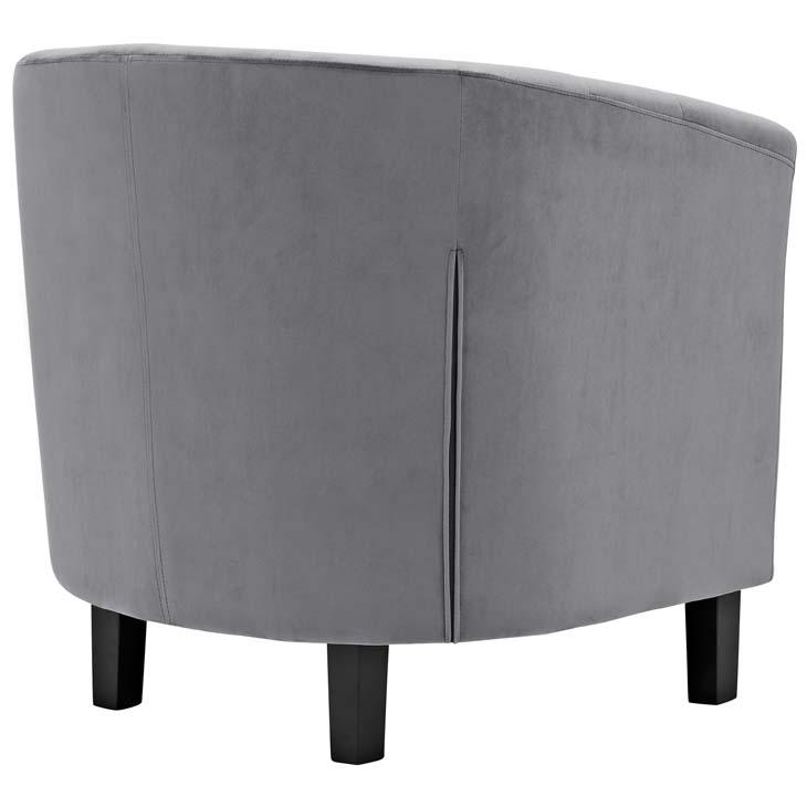 exclusive velvet sofa armchair grey 3