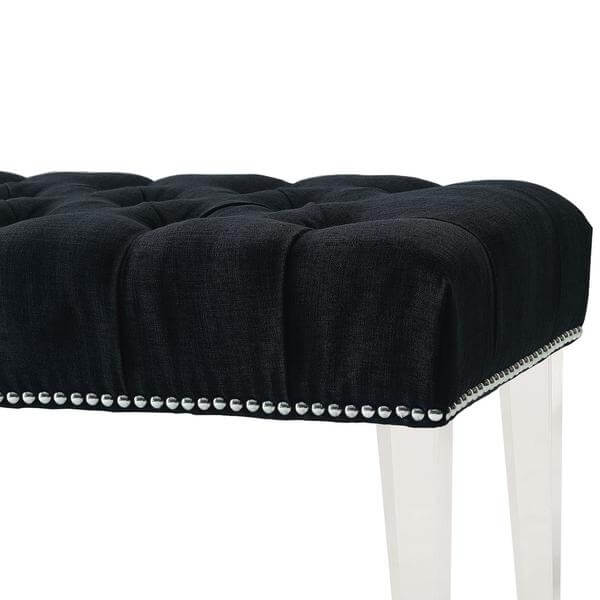 fabric dark gray acrylic bench