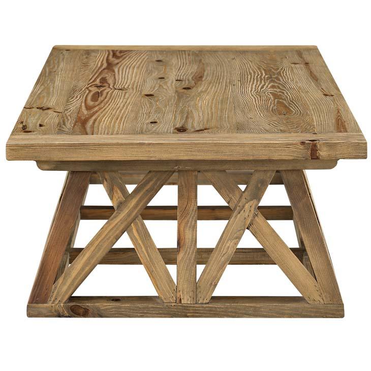 farmhouse wood coffee table 1