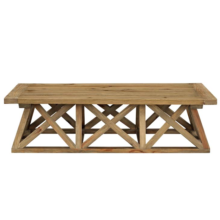 farmhouse wood coffee table 2