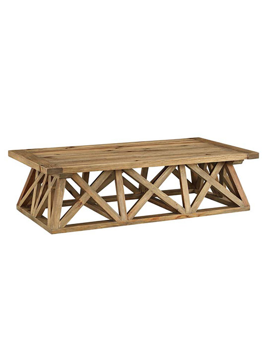 farmhouse wood coffee table