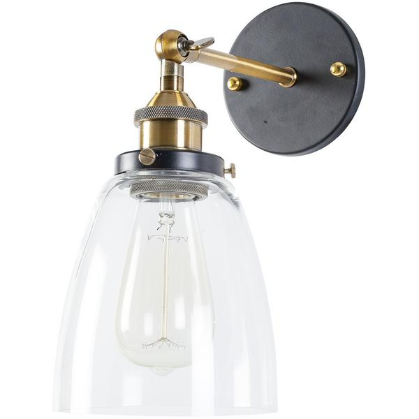 glass bell wall light 1