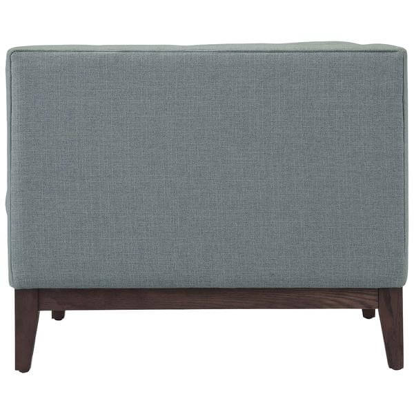 gray mid century loveseat 1