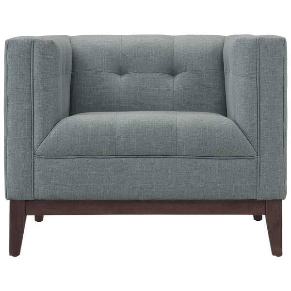 gray midcentury sofa chair