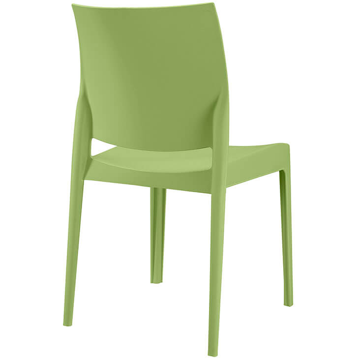 green modern outdoor chair
