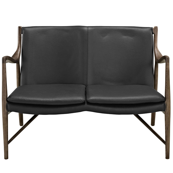horn leather loveseat 1
