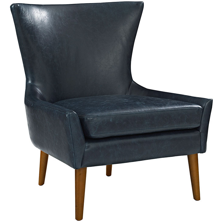 Blue Modern Accent Chairs.Journal Mid Century Modern Leather Accent Chair