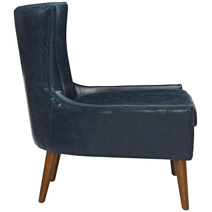 journal mid century modern accent chair blue 2