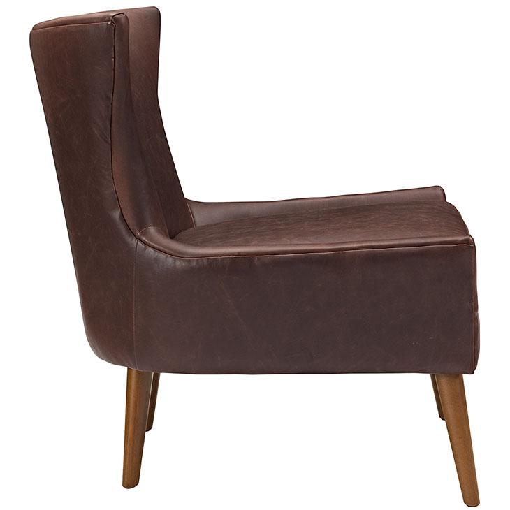 journal mid century modern accent chair brown 2
