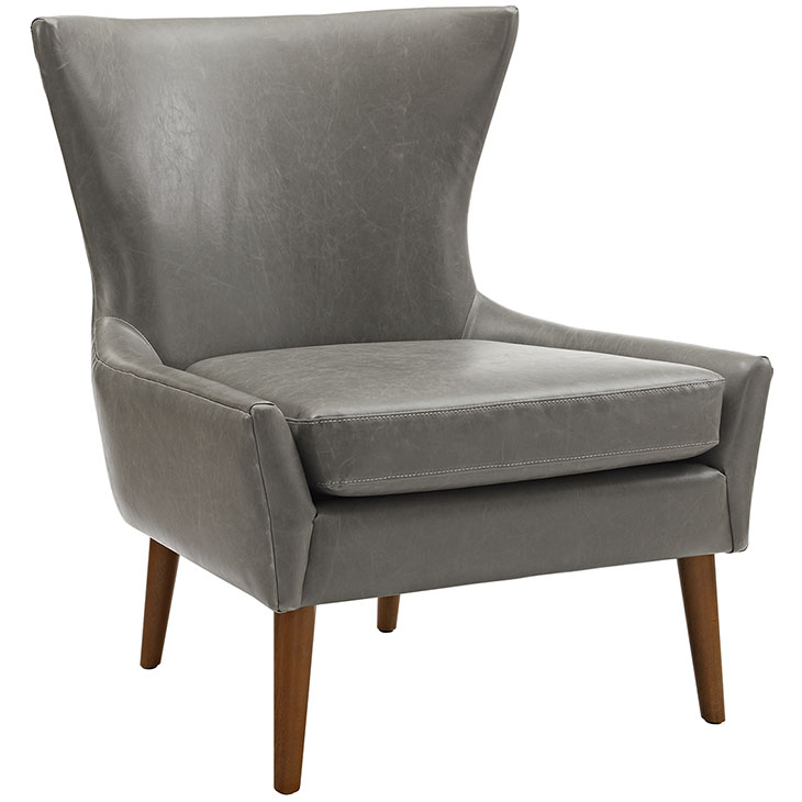 journal mid century modern accent chair gray 1